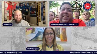 We really enjoyed @uwssoccer weekly show  together with @jon_uwsweekly and the future players Louisana FC. The young players of @gulfsouthtexans